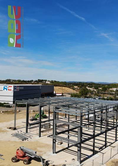 Construction de notre nouvel entrepôt à Boisseron(34)