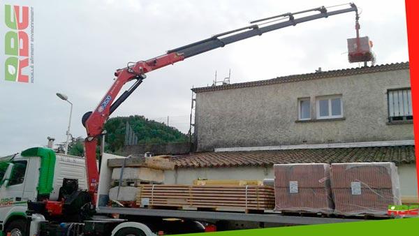 Livraison grande hauteur dans une zone résidentielle de Montpellier